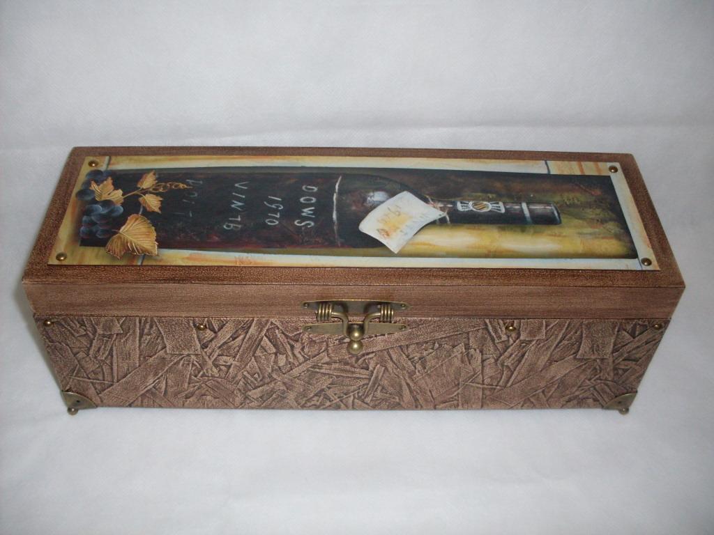 Caixa Mdf Vinho Decorada Craquelà ª Vidrinhos Presente Branca  #8D6E3E 1024x768